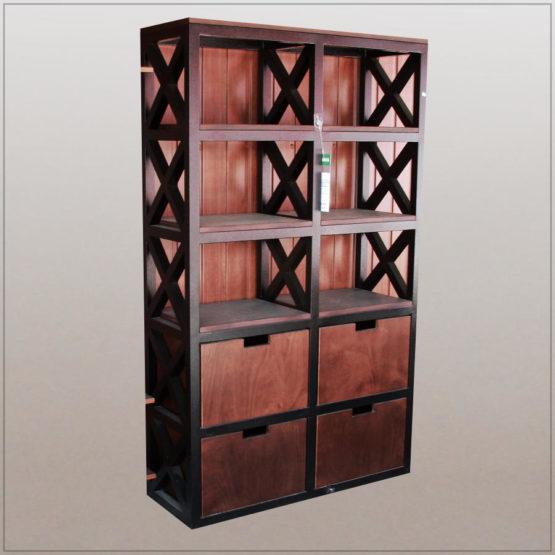 Функциональный и яркий стеллаж Висконсин (из нашей коллекции мебели для лофта Brooklyn)